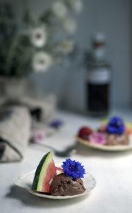 umami ice-cream with watermelon